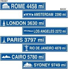 Wholesale Travel Street Sign Cutouts (Case of 24)