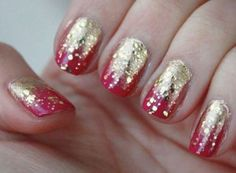 Holiday - Sometime Around Midnight / Gold Nail Polish Manicure  #glitterinjuicy #givemewhatIwant
