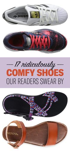 We hope you love the products we recommend! Just so you know, BuzzFeed may collect a share of sales from the links on this page. Comfortable Work Shoes, Comfy Shoes, Casual Shoes, Casual Clothes, Types Of Shoes, Easy, Vacation Nails, Buzzfeed, Shoes Stand