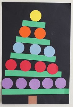 This paper shape Christmas tree was one of my favorite Christmas crafts for kids back when I was in the classroom. All you'll need to complete this easy Christmas craft is some paper and glue!