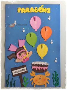 Sharks For Kids, Fish Template, Counting Activities, Rainbow Crafts, School Decorations, The Balloon, Classroom Decor, Boy Or Girl, Balloons