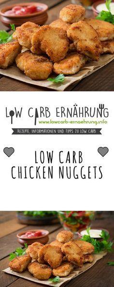 Low Carb Rezept für leckere Chicken Nuggets mit wenig Kohlenhydraten. Low Carb und einfach und schnell in der Zubereitung. Perfekt zum Abnehmen.