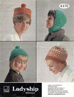 Lady's & Children's Hats A4 PDF Reformatted by NostalgiaPatterns