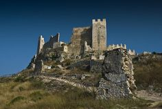 Castle Xivert (or Chivert) in Spain, commanding a spectacular position on the Serra de les Talaies mountain range.  Although originally Moorish, it was modified by Templar Knights
