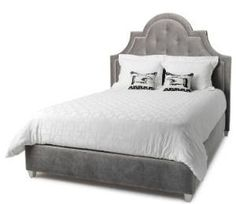 How to make an upholstered bed, with upholstered platform, curved headboard and nailhead trim.