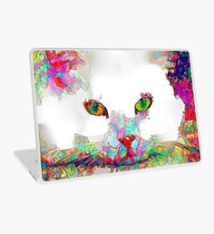 Rainbow Cat #4 Laptop Skin Surface Laptop, Kitten, Cat, Laptop Decal, Laptop Skin, Macbook Air, Rainbow, Gifts, Color