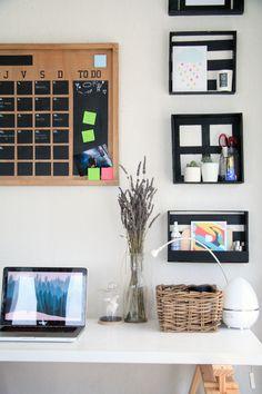 DIY, coin bureau, clayette en bois