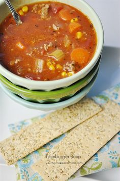 This Hamburger Soup comes together in no time and makes a delicious family dinner! I've been a soup kind of girl since the beginning. When I was two years old there were only two foods that I would eat. Raw, cold hot dogs (I am little embarassed to admit this) and Campbells vegetable soup. The …