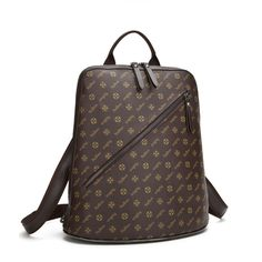 190.00$  Buy now - http://ali84c.worldwells.pw/go.php?t=32789472677 - Men and women general knapsack Urban fashion style Multi-function Patented pattern coated canvas High quality school bags