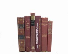 Tuscan Red Wine Antique Book Decor Decorative Books Old Book