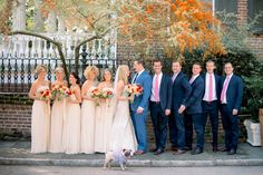 formal bridal parties - photo by Tim Willoughby http://ruffledblog.com/romantic-southern-wedding