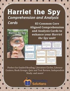 harriet the spy activities lessons resources and more common rh pinterest com Harriet The Spy Book Harriet The Spy VHS