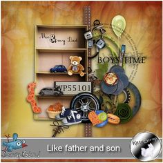 mini kit like father and son by kittyscrap