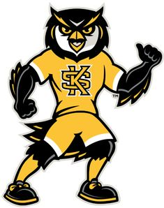 Kennesaw State Owls Mascot Logo (2012) - Scrappy the Owl mascot