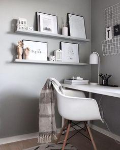 Most Popular Modern Home Office Design Ideas For Inspiration - Modern Interior Design Home Office Lighting, Home Office Space, Home Office Desks, Apartment Lighting, Bedroom Lighting, Tumblr Rooms, Home Office Organization, Organized Office, Organization Ideas