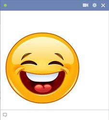 Grande sorriso Facebook smiley