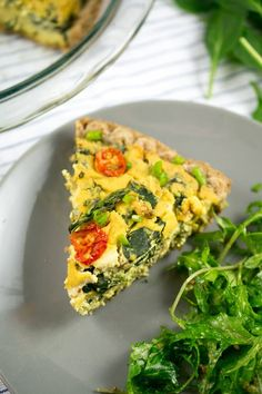 Classic Vegan Quiche: A creamy chickpea tofu quiche studded with crisp-tender spring vegetables encased in a flaky dairy-free pie crust. Eggless quiche never tasted so good before!