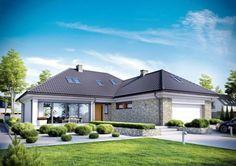 Casa in forma de L cu terasa