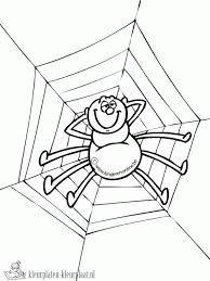 18 Beste Afbeeldingen Van Herfst Spinnen Kleurplaten Spider