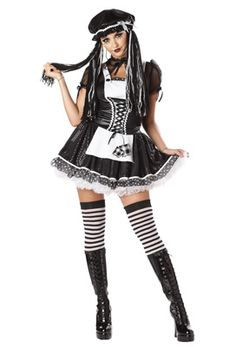 Dreadful Doll Adult Costume #gothic #doll #halloween #costumes