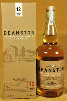 Deanston Whisky 12 y.o., non chill filtered.