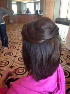 half up half down short hair updo wedding hair bridesmaids wedding hair