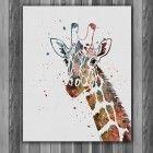 Giraffe animals Printable Watercolor art print home wall art painting
