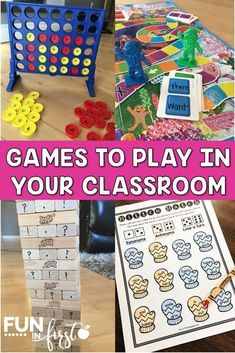 These ideas for games to play in your classroom are great for teaching academic skills and getting your students engaged in their learning. #games #kidactivities Educational Games, Learning Games, Learning Centers, Math Games, Games To Play, Playing Games, Maths, Kids Learning, Kinesthetic Learning