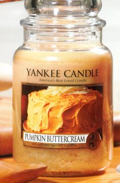 Yankee Candle autumn collection.  Pumpkin Buttercream mmmmm