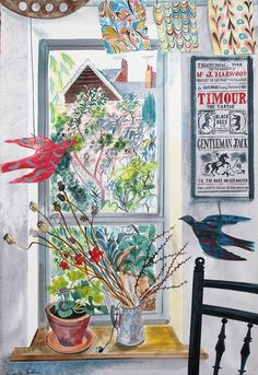 """The Garden Room"" by Emily Sutton from the artist's ""Town & Country"" exhibition at the Yorkshire Sculpture Park from 15 November (via St Jude's)"