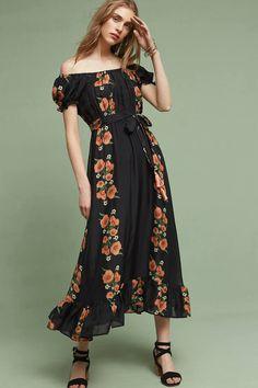 Carolina K Reanna Silk Midi Dress