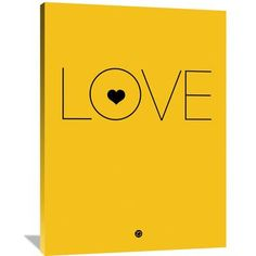 Naxart 'Love Poster' Textual Art on Wrapped Canvas Size: