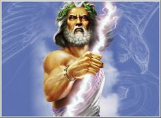 Character:Zeus is known for being the god of the sky. Another thing Zeus is known for is his giant lightning bolt that he seems to hold all the time. His facial features include a grey beard and grey hair. His main body feature is his massive muscles on his arms.