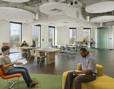 MKThink recently completed a new office space for The Nature Conservancy (TNC), the world's largest conservation organization. Located in San Francisco's Open Office Design, Workplace Design, Corporate Interiors, Office Interiors, Industrial Office Space, Modern Interior, Interior Design, Interior Color Schemes, Design Furniture