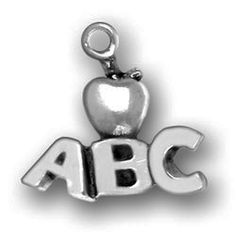 Pewter ABCs with Apple Charm