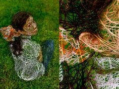 Rachel Drucker   The Scribbled Line People   Project inspired by wire sculptures   http://www.rachelducker.co.uk/