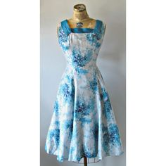 Vintage 40s/50s Garden Party Dress by EstherWooVintage on Etsy, $110.00