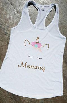 Unicorn Mommy shirt or tank top  Unicorn Mom shirt Unicorn