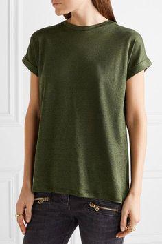 Balmain - Slub Linen-blend T-shirt - Army green - FR