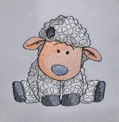 "Sheep - Machine Embroidery Designs Set for a Babies and Children of a series ""Old Toy""and simbol of Chinese New Year project"
