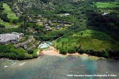 Hanalei Bay Resort....right next door and sharing Pua Poa beach with the St Regis.