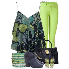 Lime Jeans, created by tayswift-1d on Polyvore