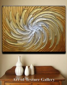 36 x 24 Original Abstract Texture Modern Gold Copper White Carved Floral Flower Sculpture Knife Oil Painting by Je Hlobik Ready to Ship Oil Painting Texture, Texture Art, Painting & Drawing, Art Techniques, Painting Inspiration, Diy Art, Art Projects, Abstract Art, Canvas Art