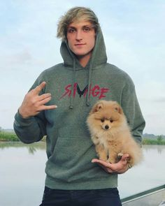 Logan Paul with his new pet. kong
