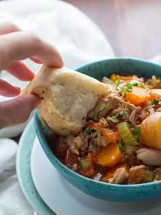 Slow Cooker Tuscan Chicken Stew - Sweet Peas and Saffron