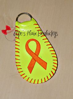 Awareness Ribbon Real Softball Key Chain by ApesCustomPhotoProps on Etsy