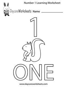 This free printable worksheet helps preschoolers learn the number ...