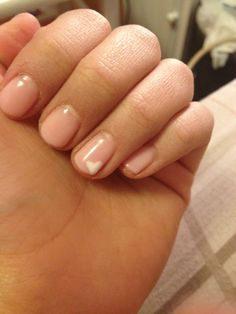 Gel nails. Nude with white heart