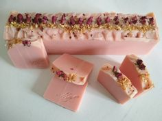 Natural olive oil soap with perfect essential oils! Rose & Jasmine!