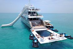 The All Inclusive Luxury Motor Yacht Charter Yacht Design, Boat Design, Yatch Boat, Ski Nautique, Beautiful Places To Travel, Jet Ski, Boat Building, Luxury Travel, Dream Vacations
